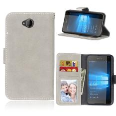 Zoeirc Protective Stand Wallet Purse Credit Card ID Holders Magnetic Flip Folio TPU Soft Bumper Leather Case Cover for Nokia Microsoft Lumia 650 - intl