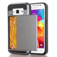 Zoeirc Dompet Kasus Kartu Pocket Dual Layer Hybrid Bumper Karet Pelindung Kartu Case Cover untuk SAMSUNG GALAXY CORE Prime G360 /Samsung Galaxy S3 LTE-Intl