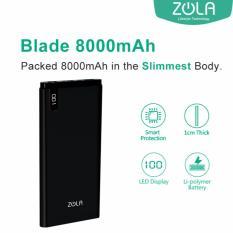 Diskon Zola Blade 8000 Mah Fast Charging 2 1A Powerbank Hitam Zola