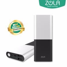 Zola International Alloy Powerbank 10000 mAh Metal Fast Charging 2.1A - Silver