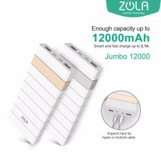 Diskon Zola International Jumbo 12000 Mah Powerbank Fast Charging 2 1A Akhir Tahun