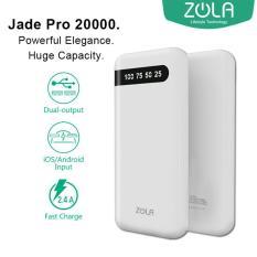 Beli Zola Jade Pro 20000 Mah Fast Charging 2 4A Powerbank Putih Cicilan