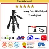 Spesifikasi Zomei Q100 Mini Tripod Macro Black For Mirrorless Dslr Action Cam