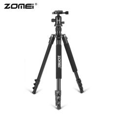Zomei Q555 Profesional Aluminium untuk DSLR tripod Kamera Berdiri dengan Ball Head Black-Intl