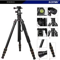 Zomei Q666 Kamera Tripod Aluminium Ball Head untuk SLR DSLR Kamera Hitam-Internasional