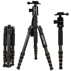 Zomei Z699C Portable Carbon Tripod Monopod Kit & Ball Head Compact untuk Canon Sony, Nikon, Universal Kamera dan Video Camera Warna Hitam-Intl