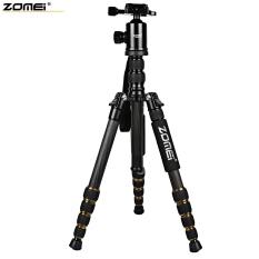 Zomei Z699C 59.4 Inches Ringan Profesional Kamera Video Filter Karbon Tripod dengan Tas (Hitam)