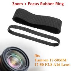 ZOOM + Fokus Pegangan Karet Cincin Set Pengganti untuk Tamron 16-50 Mm 17-50 F2.8 A16 Lensa- internasional