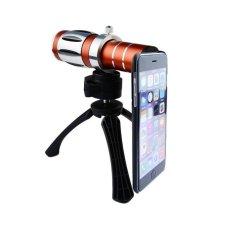 Zoom Manual Focus Lensa Telephoto Lens/150x Super Macro Lens dengan Back Case untuk IPhone 6 (Merah)
