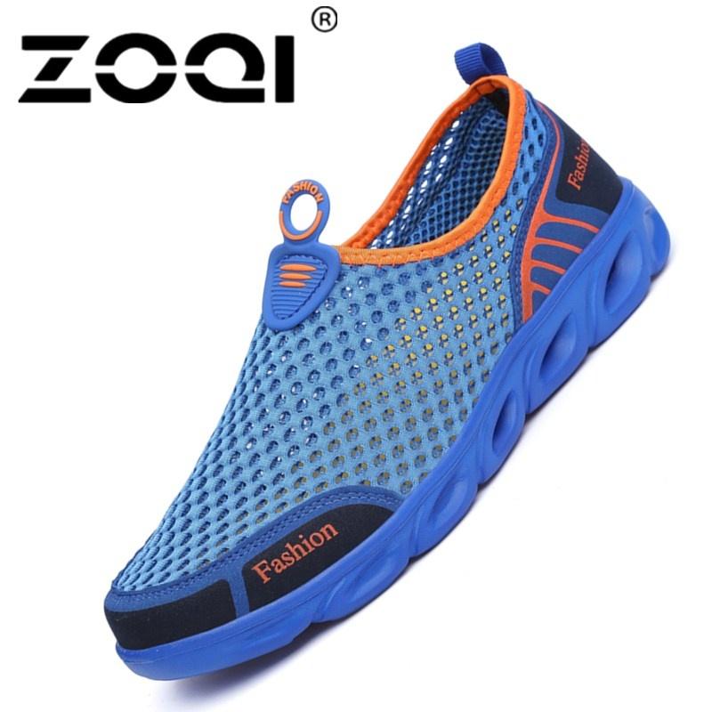 Promo Zoqi Pria Dan Wanita Fashion Mesh Light Bernapas Olahraga Sepatu Air Sepatu Biru Intl Di Tiongkok
