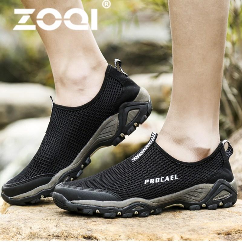 Beli Zoqi Pria Fashion Olahraga Sepatu Outdoor Hiking Sepatu Hitam Intl Zoqi Dengan Harga Terjangkau
