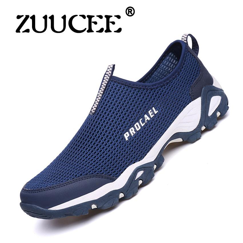 Jual Beli Zuucee Outdoor Sun Sepatu Wear Anti Skid Olahraga Sepatu Sepatu Sepatu Pria Bernapas Berjalan Sepatu Biru Intl Di Tiongkok