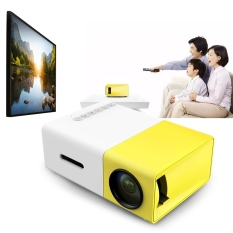 ZZOOI YG300 Portable LCD Proyektor 500LM 3.5mm Audio 320x240 Pixel 1080 P Mini Home Theater Projector dengan HDMI USB AV Input-Intl