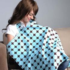2016 Breastfeeding Cover Towel Angel Rabbit Mom Out Cotton 65*85cm Nursing Covers Shawl Blanket Towel Clothing Apron-Blue Circle