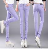 Dapatkan Segera 2016 Cotton Women Peregangan Pensil Celana Kasual Slim Fit Jean Ladies Celana Intl