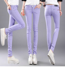 Beli 2016 Cotton Women Peregangan Pensil Celana Kasual Slim Fit Jean Ladies Celana Intl Cicilan