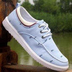 Toko 2016 Fashion Casual Mens Sepatu Untuk Pria Formal Sport Kanvas Sepatu Bernapas Flats Sepatu Biru Oem Di Tiongkok