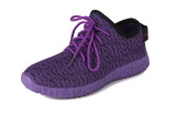 2016 Baru Sepatu Rekreasi Sepatu Fashion Fabric Warna Fly Olahraga Sepatu Ungu Promo Beli 1 Gratis 1