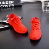 Review 2016 Baru Sepatu Rekreasi Sepatu Fashion Fabric Warna Fly Olahraga Sepatu Merah Di Tiongkok