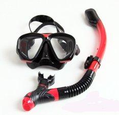 Toko 2016 Baru Merek Whale Air Masker Olahraga Menyelam Snorkelling Alat Snorkel Masker Dan Tabung Pernapasan Combo All In One Dan Kacamata Renang Hitam Merah Terlengkap Tiongkok