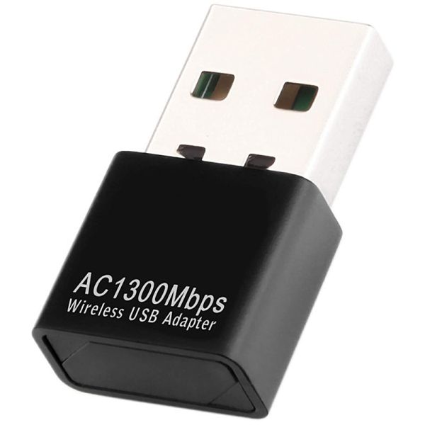 USB WiFi Adapter for PC, AC1300Mbps Wireless Network Adapter, 802.11Ac with Dual Band 2.4Ghz/400Mbps 5.8Ghz/867Mbps