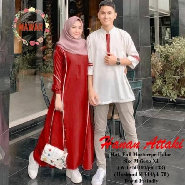 Baju Couple Terbaru / Baju Batik Couple Terbaru / OOTD / Gamis Syar'i Couple / gamis / Baju Couple Muslim Terbaru 2020 / Baju Batik Pria / Baju Batik Modern / Batik Kondangan / Batik Keluarga / Batik Pekalongan / Baju HANAN ATTAKI Couple