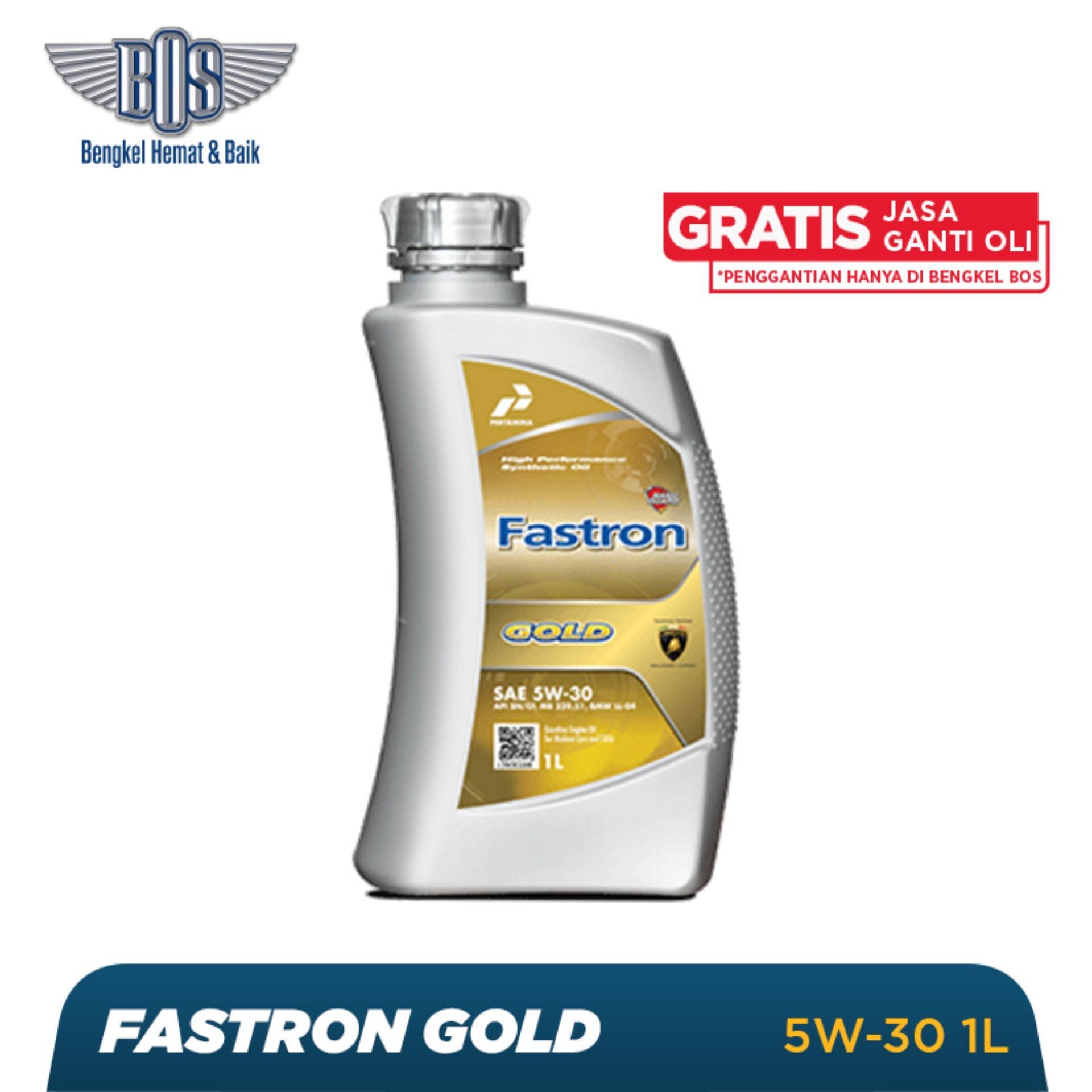 Oli Mobil Fastron Gold  - 5W-30 - LITER -  Gratis Jasa Ganti Oli dan Check Up Kendaraan