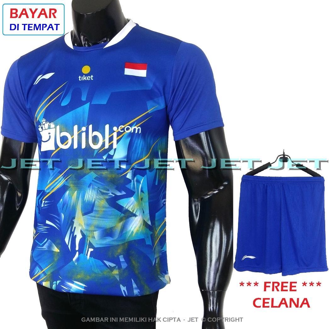JeT Sports – Stelan Kaos Celana Olahraga M L XL - Dri Fit Sport – Replica -