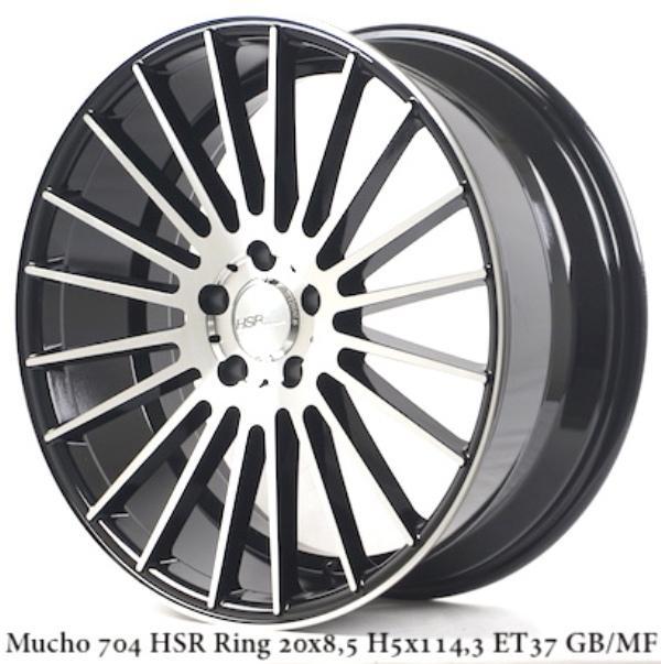 Velg Mobil Racing Mucho Hsr Ring 20 Black polish Hrv Crv Innova Murano Xpander Elegant Style