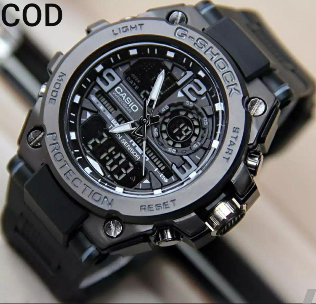 CASIO Jam Tangan SPORT G SHOCK_G2019 Jam Tangan Fashion Pria-Body Besi Strap Rubber/Tali Karet Black Cute-Dual Time Water Resist-Limited Editions.PROTECTION