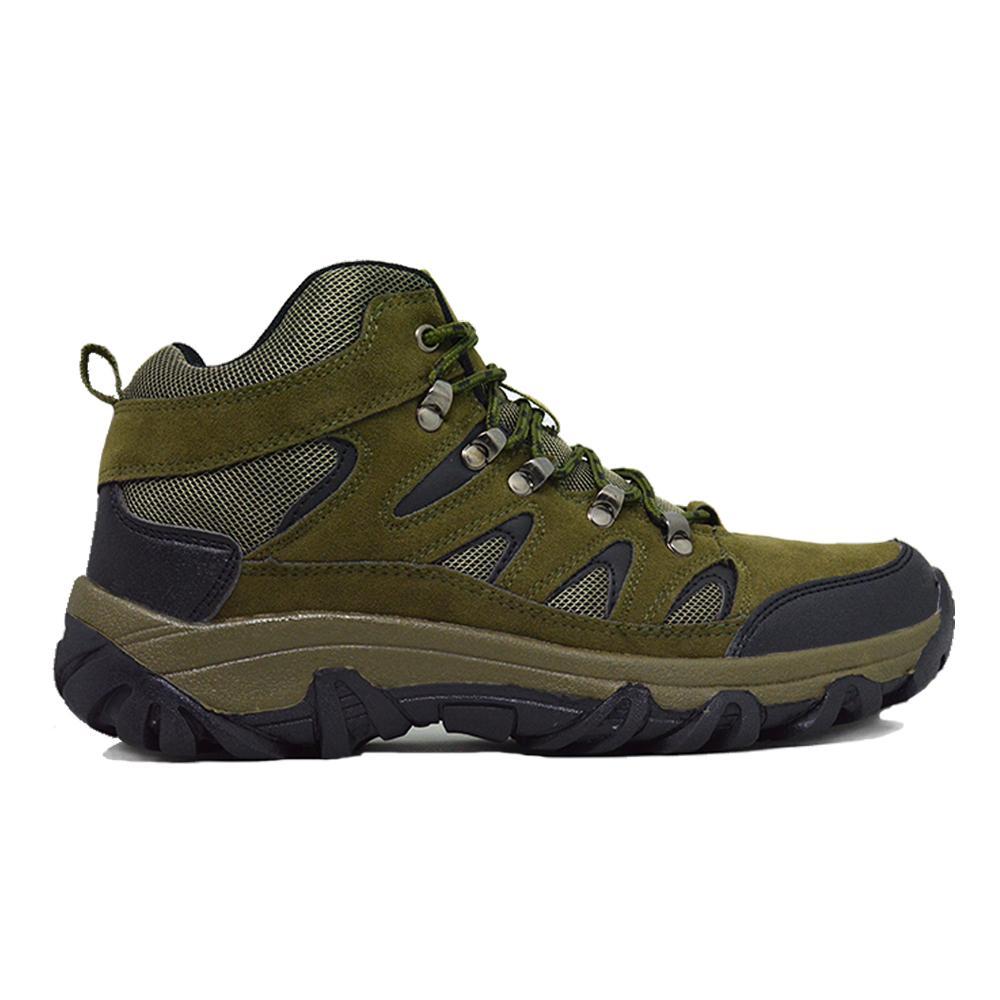 Sepatu Gunung Boot Pria Warna Ijo Lumut, Sepatu Hiking Bukan SNTA Karrimor Consina dan TNF