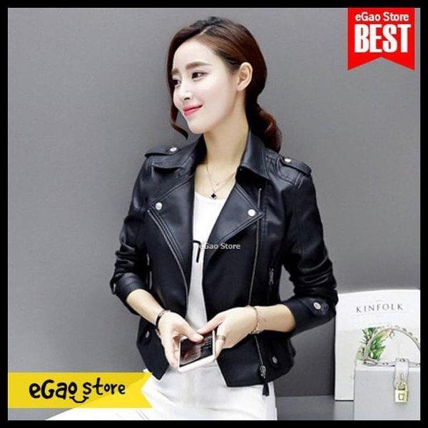 Paling Laris Hot List Jaket Kulit Klip Korea Style Jaket Wanita Korea Kulit Sintetis By Mardiyah Fashion Store.