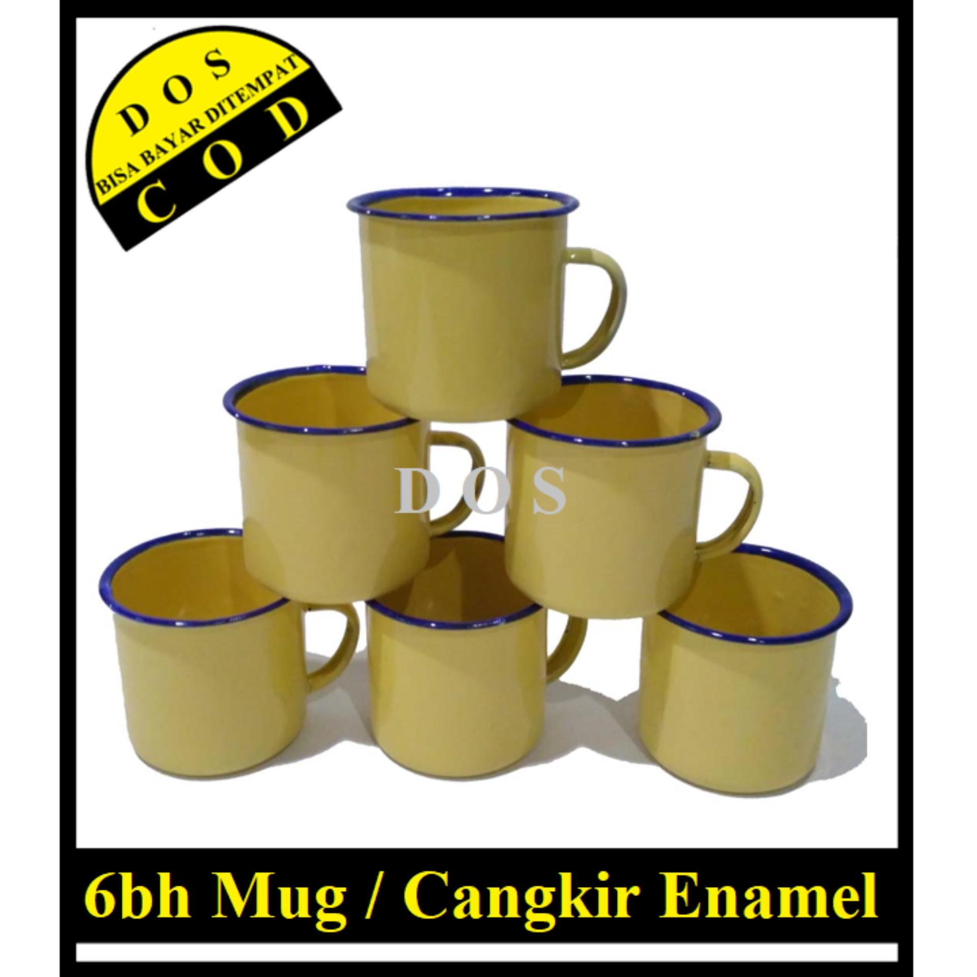 Dos 6bh Mug Jadul / Mug Enamel / Mug Seng / Mug Vintage Polos By Dos