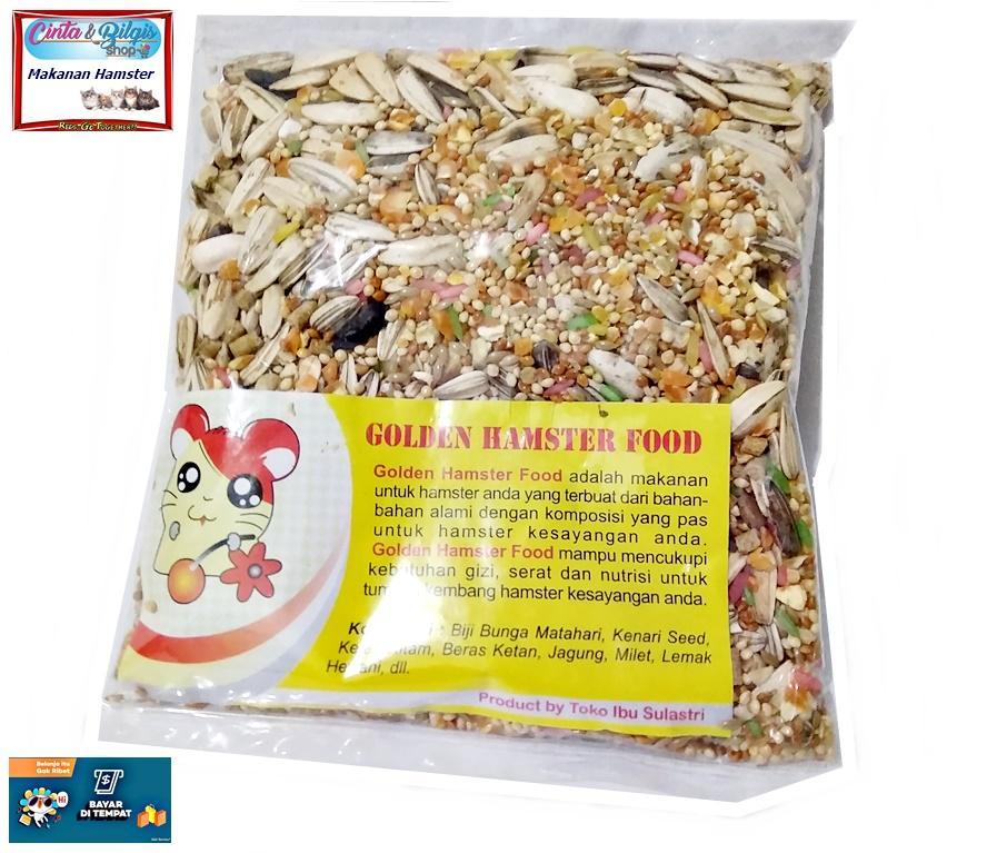 Makanan Hamster Campur Golden Hamster Food - Ukuran 200gram By Cinta & Bilqis Shop.