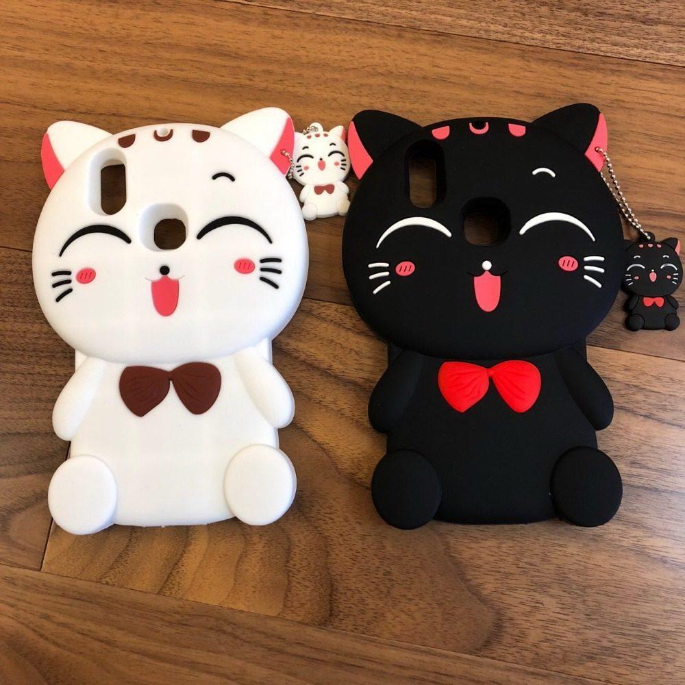 Vivo V9 Case Softcase Case 4D Kucing /Silikon /Boneka /Karakter /3D /
