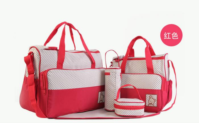 Paket 5in1 Tas Perlengkapan Bayi Tas Travelling Bayi By Laris Lancar.