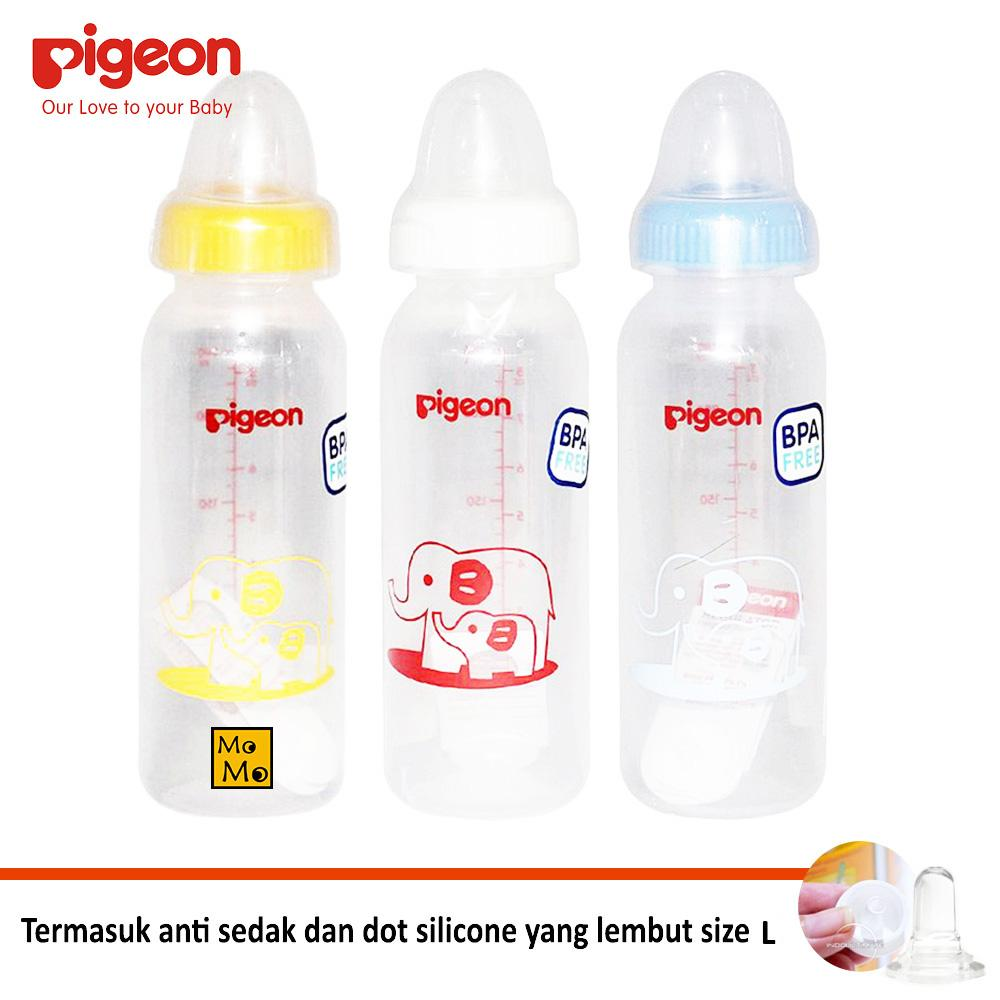 Pigeon 3 Pcs Botol Susu 240ml PAKET HEMAT - WARNA RANDOM / WARNA ACAK / Botol