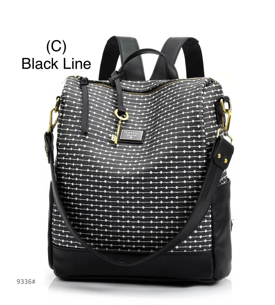tas wanita fossil backpack ransel branded import multifungsi selempang  fashion kerja jalan santai cewek best seller 4eeaee13b2