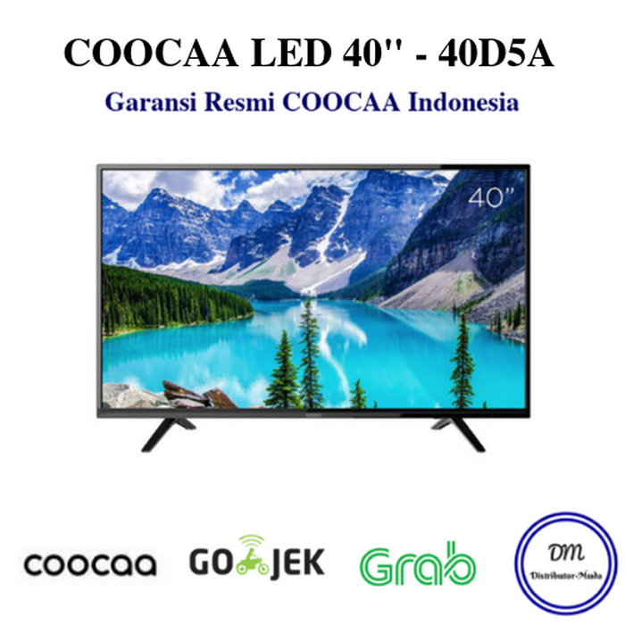 TV Coocaa 40 inch LED FULL HD Hitam model 40D5A