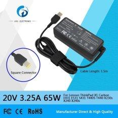 20 V 3.25 Amp 65 Watt Adaptor AC Laptop Charger Tenaga For Lenovo ThinkPad X1 Karbon E431 E531 S431 T440S T440 X230S X240 X240S Model Baru