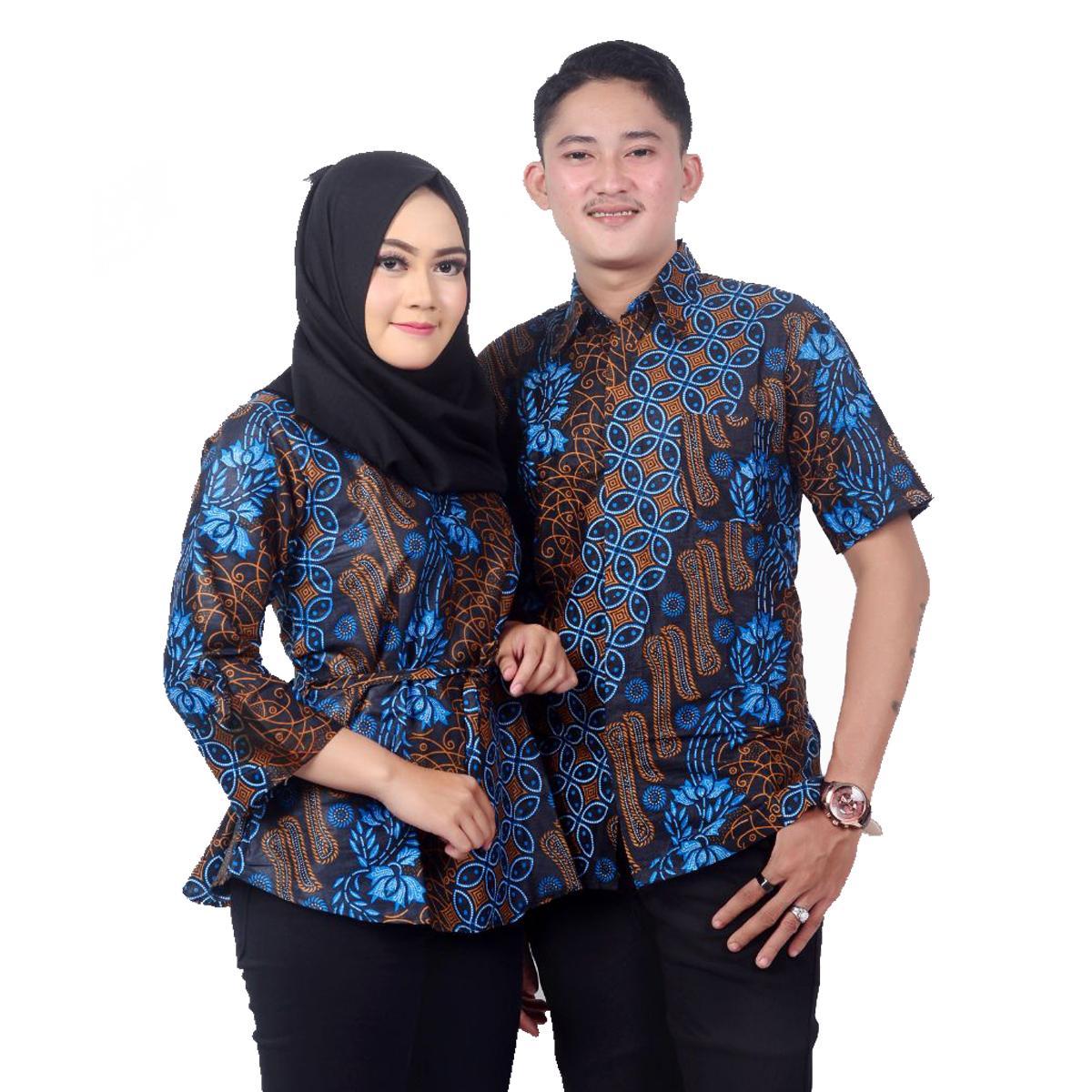 Baju Batik Couple / Couple Batik / Baju Muslim Wanita Terbaru 2019 / Batik Sarimbit / Baju Batik Modern / Batik Kondangan / Batik Keluarga / Batik Pekalongan Seno Nuklir