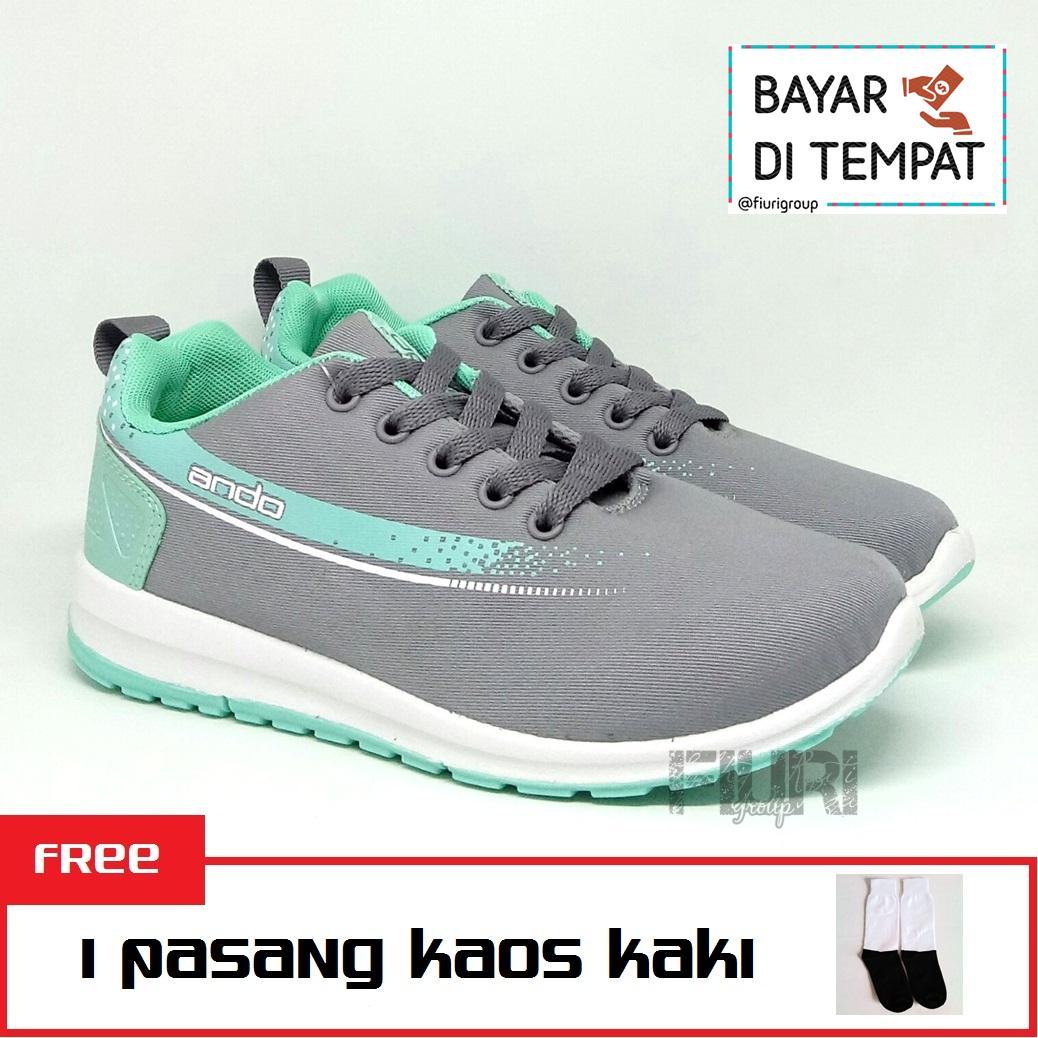 FIURI - Ando Original - Adelline Bonus Kaos Kaki - Sepatu Olahraga Wanita -  Sepatu Senam 1052fccf7e
