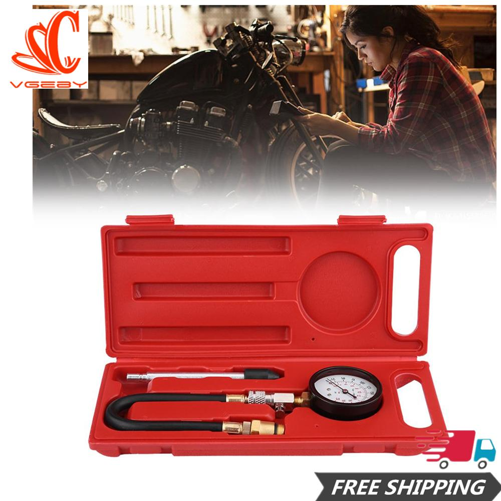 Sepeda Motor Gas Bensin Mesin Alat Pompa Silinder Tester Tes Tekanan Set Meteran Alat Perbaikan By Car-Mall.