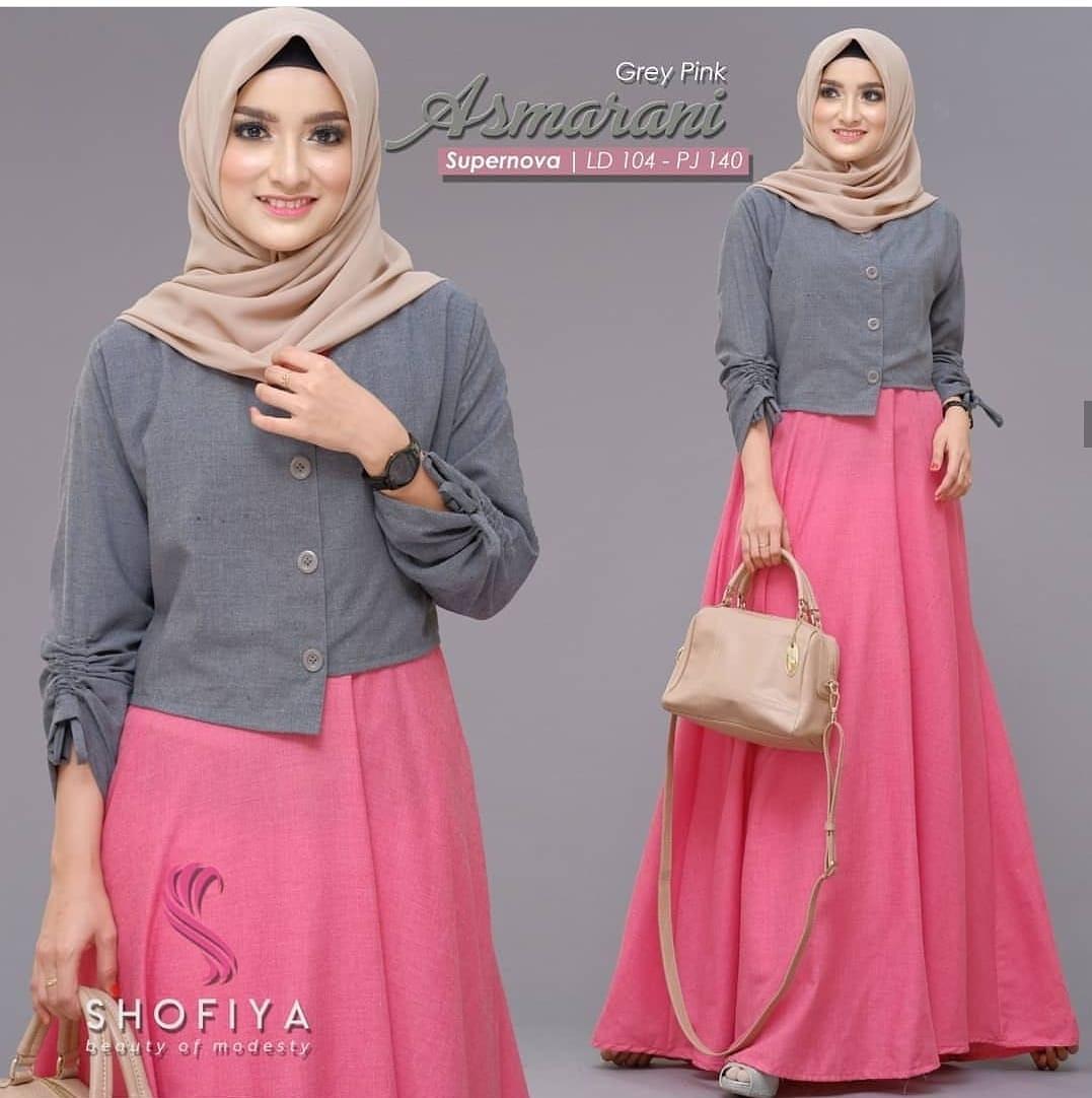 Baju Murah Terbaru Gamis ASMARANI DRESS Supernova Terusan Wanita Paling  Laris Baju Muslim Lengan Panjang Model Trendy Modern Baju Muslim Dress  Pesta