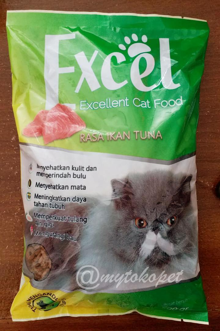 Excel Catfood - Makanan Kucing Repack 500gr Bentuk Donat By Mytokopet.