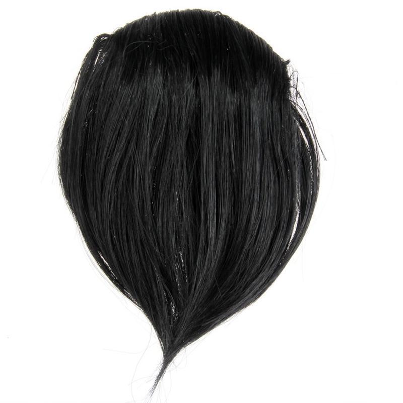 Synthetic Hair Wig Bangs Black Clipped nhập khẩu