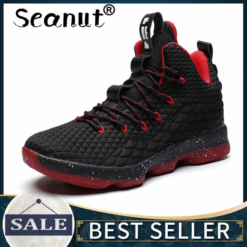 faf47e9836c5 Seanut Sepatu Basket Pria Wanita Atletik Sneaker Luar Ruangan Sejuk Tahan  Aus Non-Slip