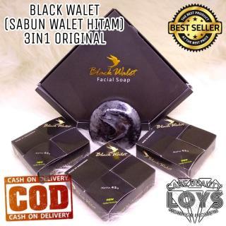 Black Walet Facial Soap 1 BOX isi 3 ORIGINAL - Sabun Black Walet Rajawali Emas Facial Soap - Sabun Walet thumbnail