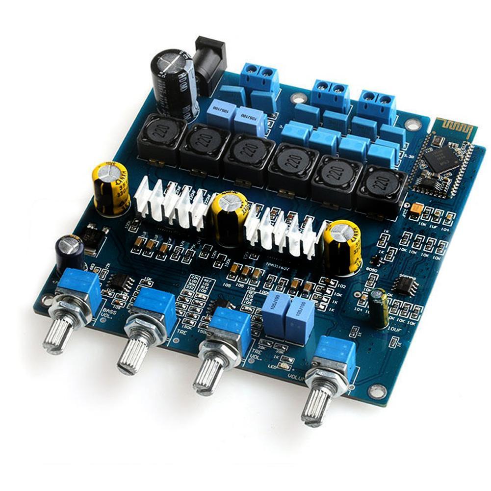 HT [Free shipping] TPA3116 2.1 50WX2+100W+ Bluetooth Class D power Amplifier(Blue Board)