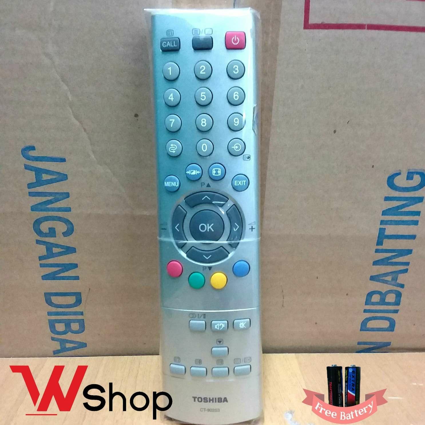 REMOT TV LCD LED DAN TABUNG TOSHIBA CT-90253 ORIGINAL